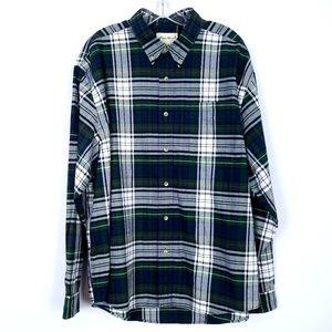 EDDIE BAUER Button Front Shirt Long Sleeve Plaid
